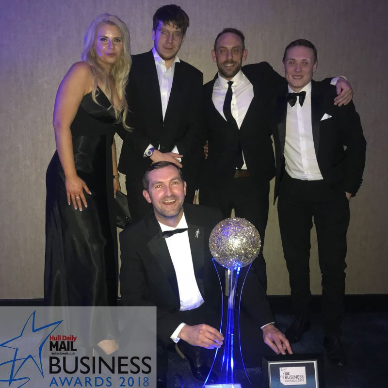 The team and the award winner