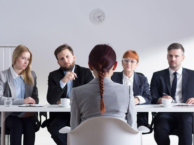 A job interview panel