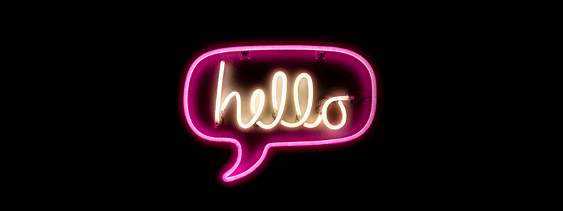 Remote Working - Hello Neon Sign