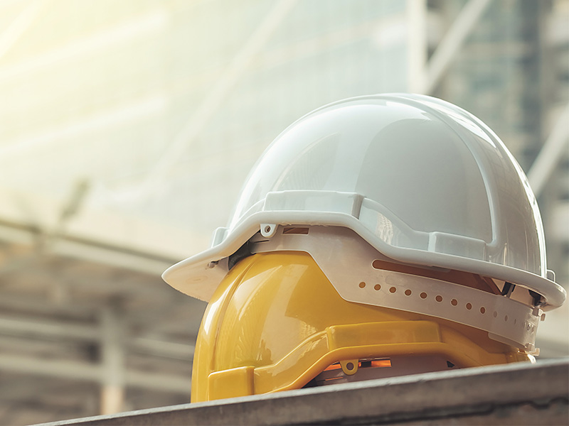 Construction Site Hard Hats